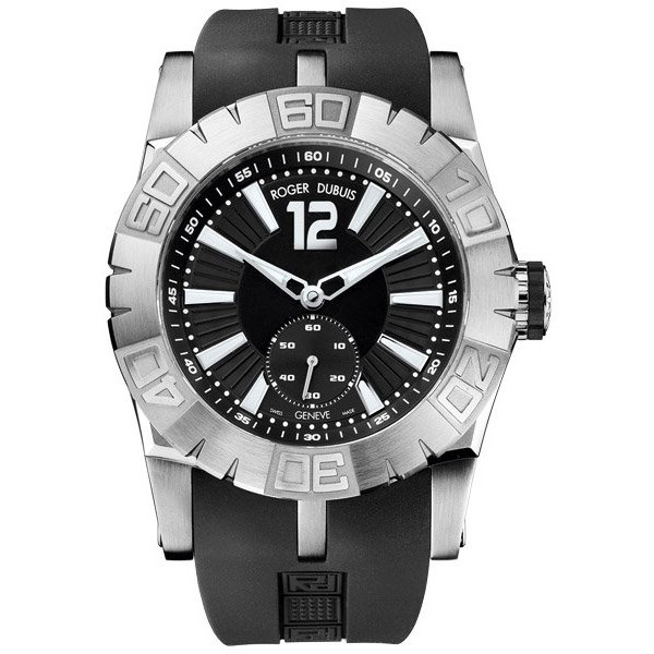 Roger Dubuis EasyDiver Automatic (SS / Black / Rubber Strap)