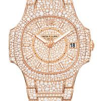 Patek Philippe Ladies Nautilus Rose Gold Full Diamond 2013