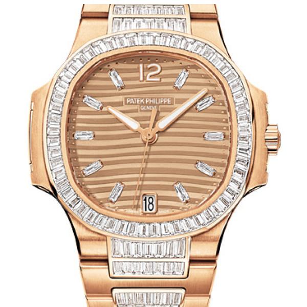 Patek Philippe Ladies Nautilus Rose Gold Bracelet Diamond 2013
