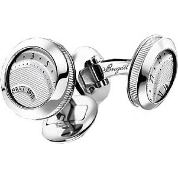 Breguet watches Cufflinks white gold with a silvered gold dial