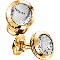 Breguet watches Cufflinks Yellow gold with a silvered gold dial