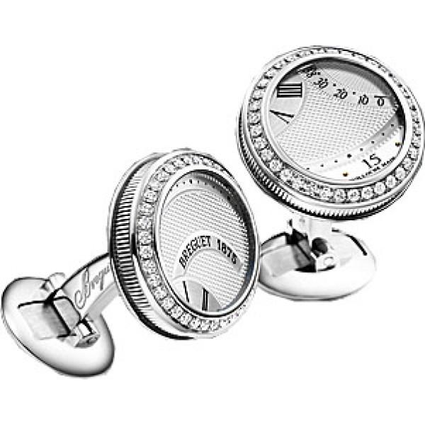 Breguet watches Cufflinks White gold & Diamonds
