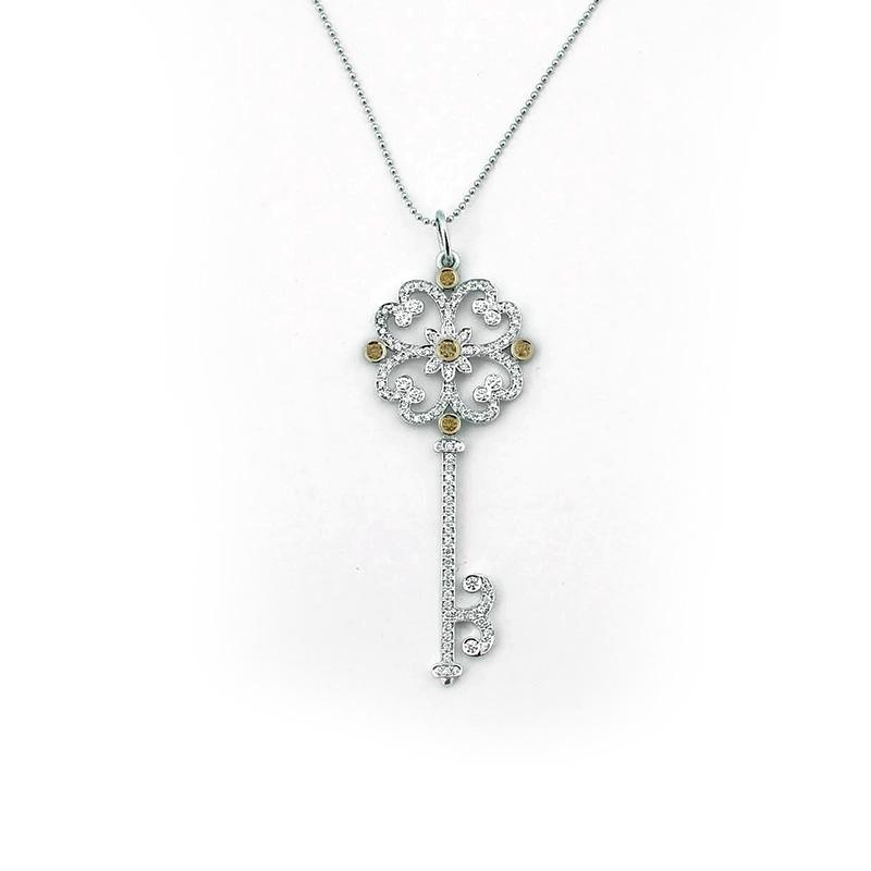 Кулон Tiffany Key, золото 750, бриллианты