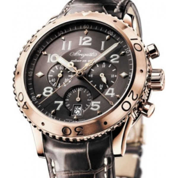 Breguet watches Transatlantique Type XXI Flyback (RG /Copper / Leather)