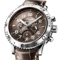 Breguet watches Transatlantique Type XXI Flyback (SS / Copper / Leather)