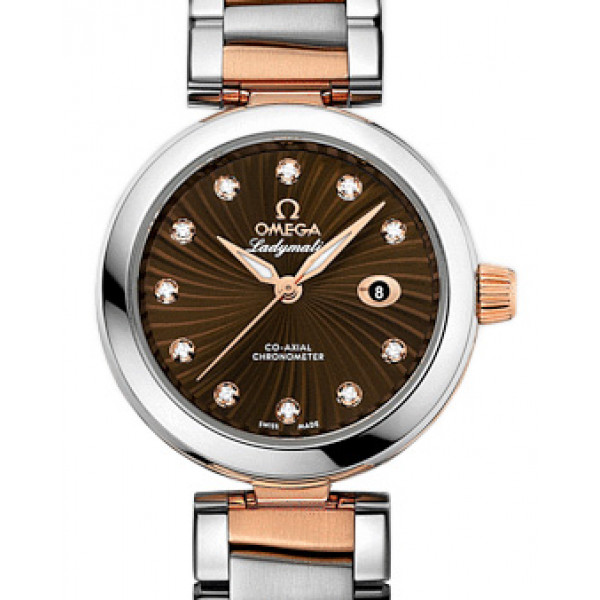Omega De Ville Ladymatic 34 mm Steel - red gold on Steel - red gold 2013