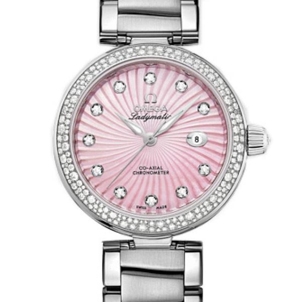 Omega Ladymatic Steel on steel Diamond pink dial  2013