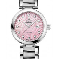 Omega Ladymatic Steel on steel pink mother-of-pearl dial new 2013