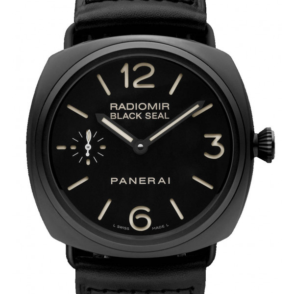 Officine Panerai Radomir Historic Black Seal (Ceramics / Black / Leather)