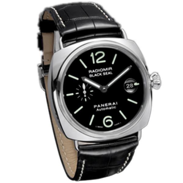 Officine Panerai Radomir Black Seal (SS / Black / Leather)