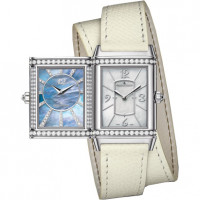 Jaeger LeCoultre Grande Reverso Lady Ultra Thin Duetto Duo White Gold Boutique Edition 2013
