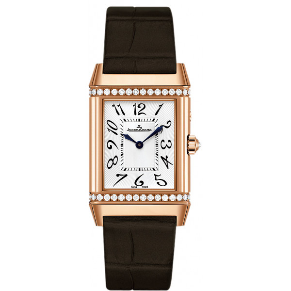 Jaeger LeCoultre   Reverso Duetto Duo (PG-Diamonds / Silver / Satin)