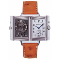 Jaeger LeCoultre  Reverso Duo (Steel / Grey / Leather)