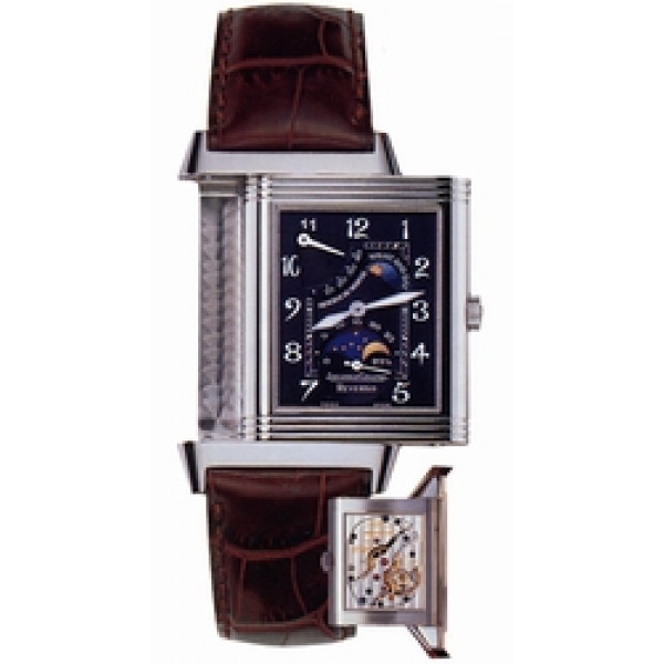 Jaeger LeCoultre   Reverso Sun Moon (WG / Black / Leather)