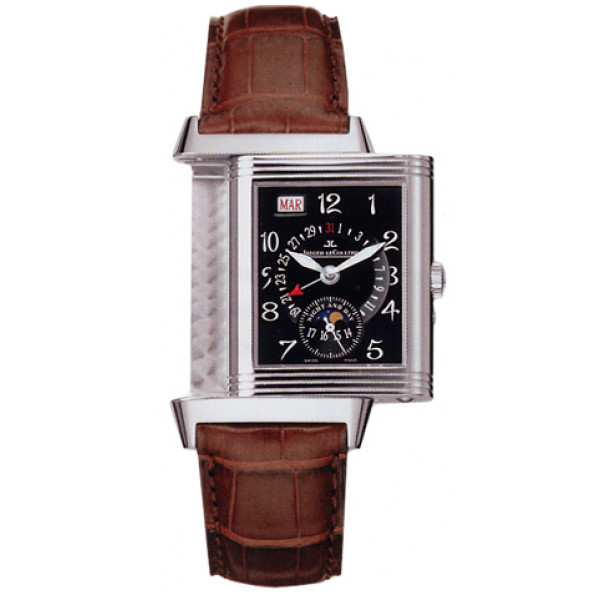 Jaeger LeCoultre   Reverso Date (WG / Black / Leather)