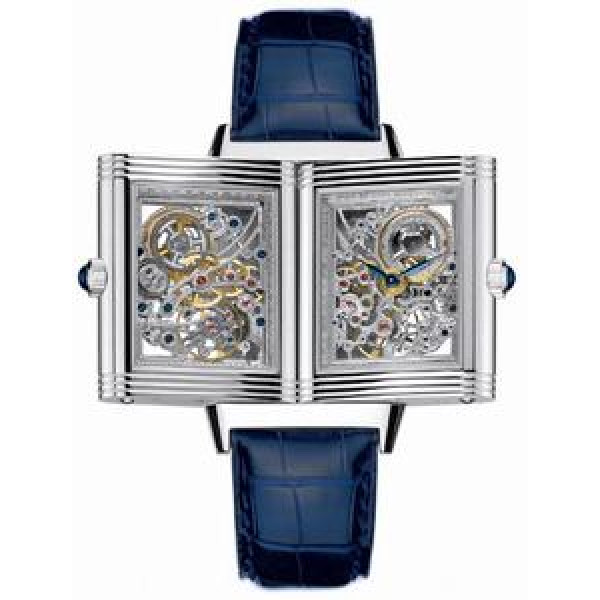 Jaeger LeCoultre   Reverso Number One and Two (Platinum / Blue / Leather)