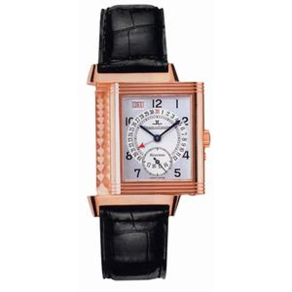 Jaeger LeCoultre   Reverso Date (RG / Silver / Leather)