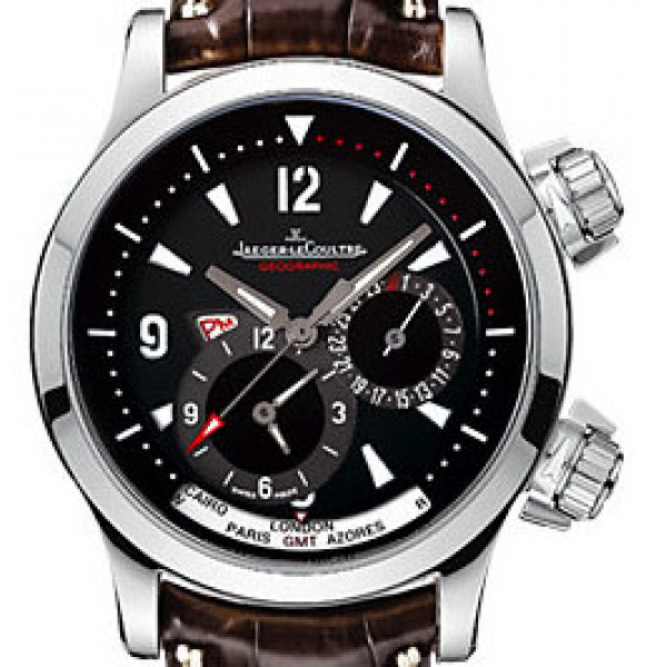 Jaeger LeCoultre   Master Compressor Geographic (Steel / Black / Leather)