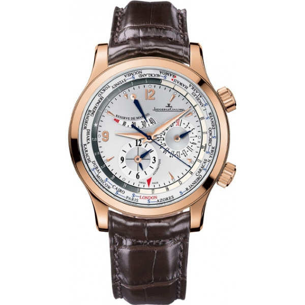 Jaeger LeCoultre   Master World Geographic (PG / Silver / Leather)