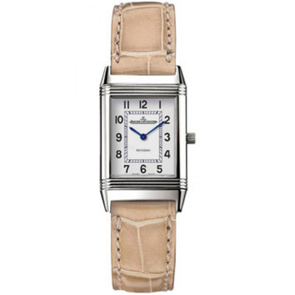 Jaeger LeCoultre   Reverso Lady (Steel / White / Leather)