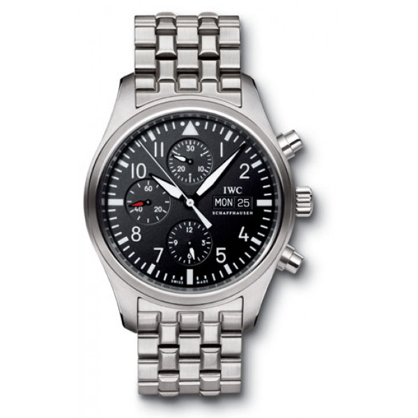 IWC Pilot`s Chrono-Automatic (Steel / Black / Steel)