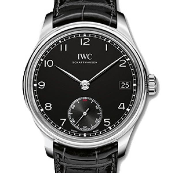 IWC Portuguese Hand-Wound Eight Days Steel Black 2013