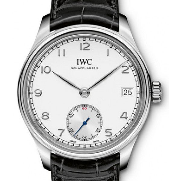 IWC Portuguese Hand-Wound Eight Days Steel Silver 2013