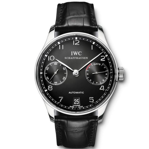 IWC Portuguese Automatic (SS / Black / Leather)