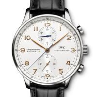 IWC Portuguese Chrono-Automatic (SS / White / Leather)