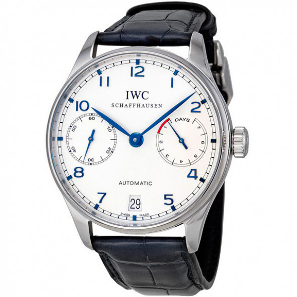 IWC Portuguese Automatic (SS / White / Leather)