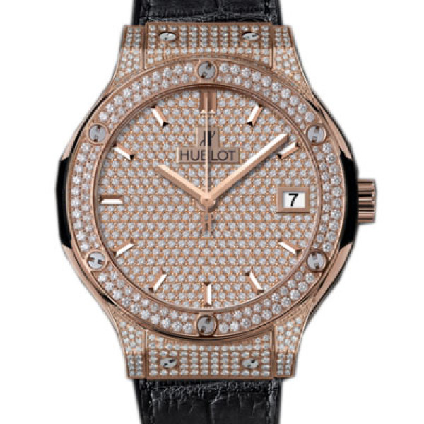 Hublot Classic Fusion King Gold Full Pave 38mm