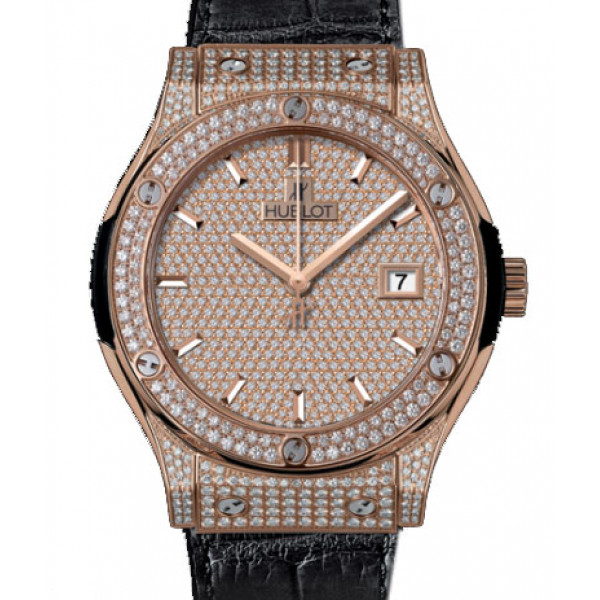 Hublot Classic Fusion King Gold Full Pave 42mm