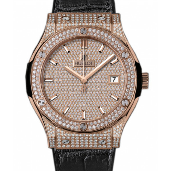 Hublot Classic Fusion King Gold Full Pave 45mm