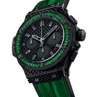 Hublot Big Bang Carbon Bezel Baguette Tsavorites 44mm 2013