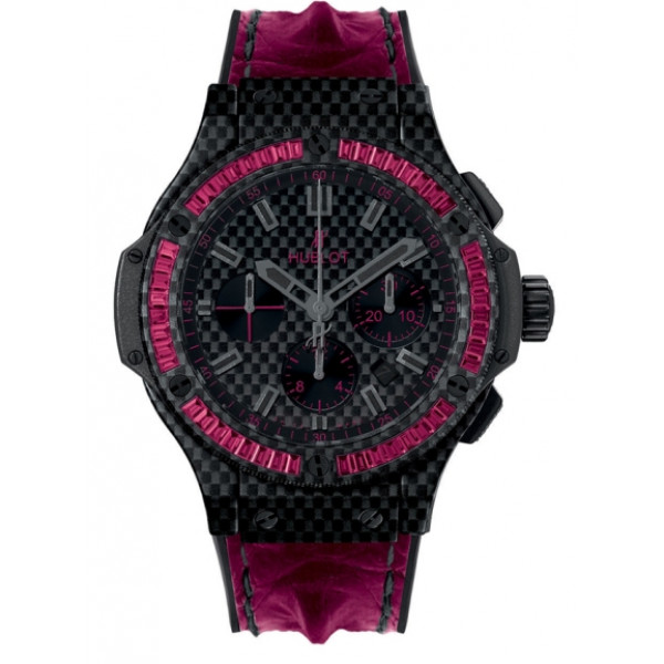 Hublot Big Bang Carbon Bezel Baguette Rubies  44mm 2013
