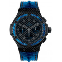 Hublot Big Bang Carbon Bezel Baguette Blue Sapphires 44mm