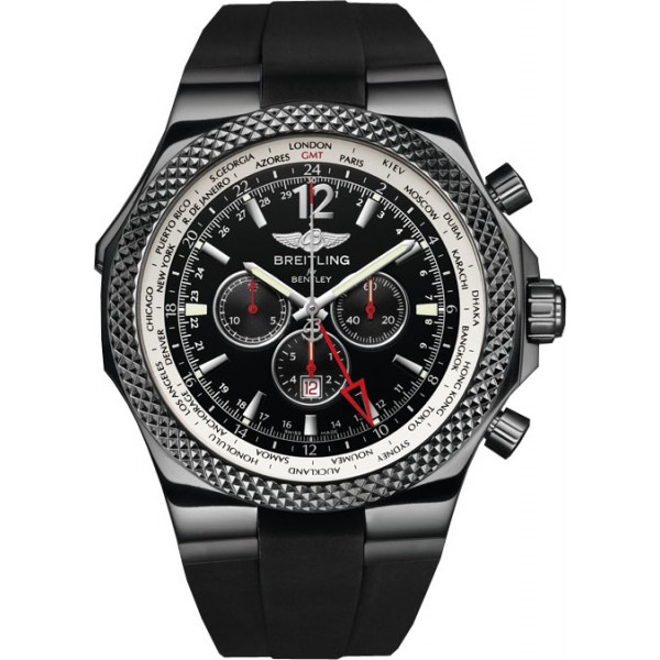 Breitling watches Bentley GMT Midnight Carbon