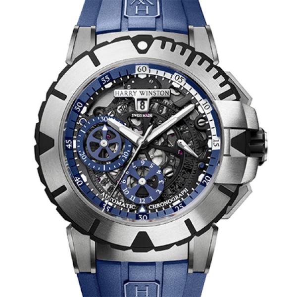 Harry Winston Ocean Sport Chronograph Blue 2013