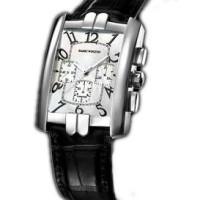 Harry Winston Avenue C Chrono (WG / Silver / Black Leather)