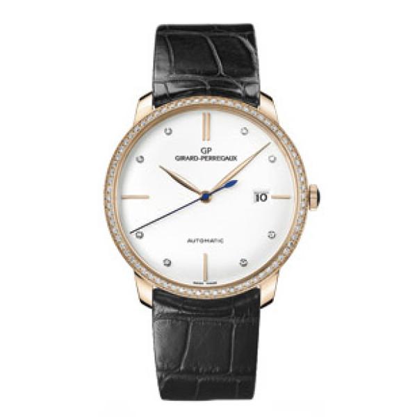 Girard Perregaux Classique Elegance 1966 (RG-Diamonds / White / Leather)