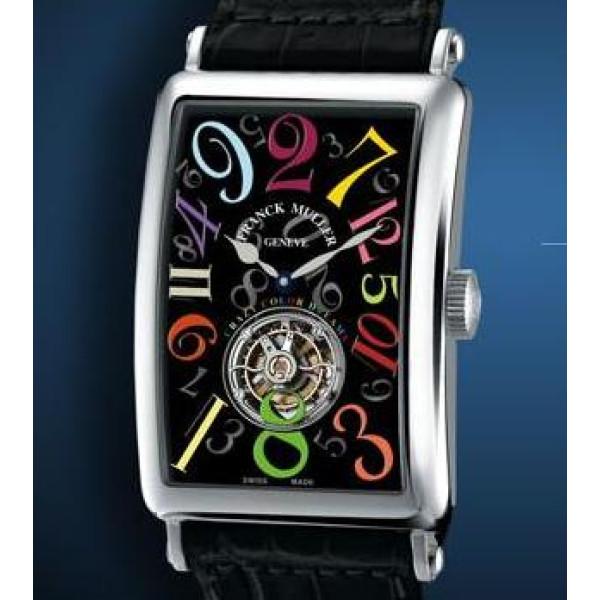 Franck Muller Crazy Hours Color Dreams Tourbillon Black Dial