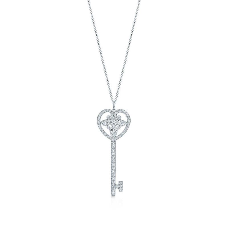 Кулон Ключ Tiffany & Co белое золото 750, бриллианты