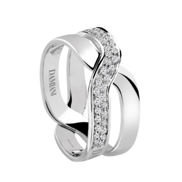 Кольцо Damiani Baci, белое золото, бриллианты (20045751)