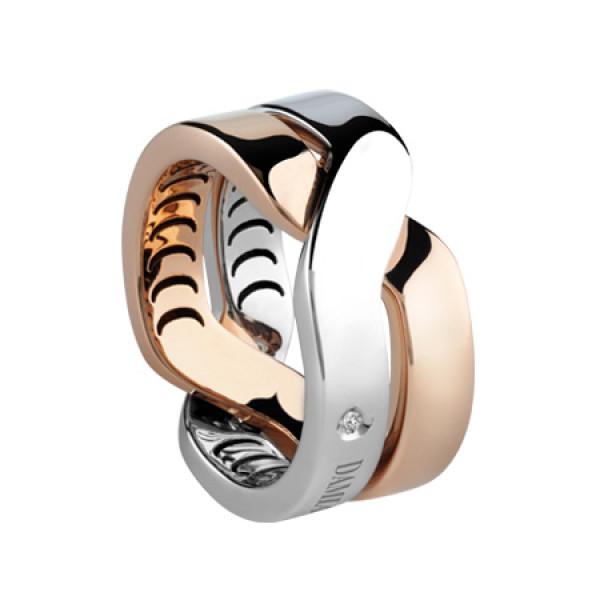 Кольцо Damiani Baci, белое и розовое золото (20054143)