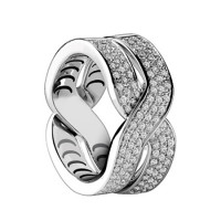Кольцо Damiani Baci, белое золото, бриллианты (20048711)