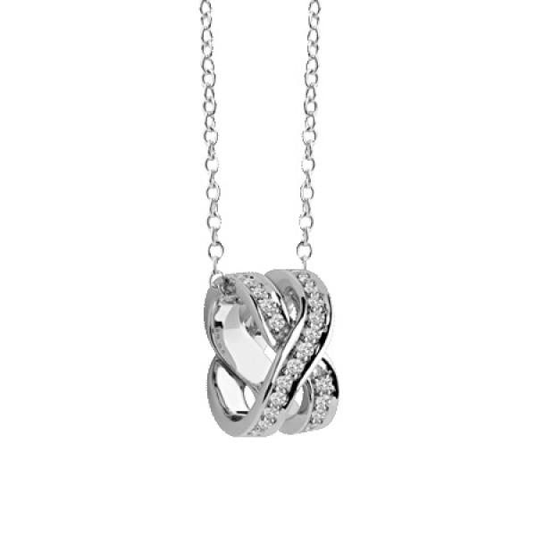 Подвеска Damiani Baci, белое золото, бриллианты (20049150)