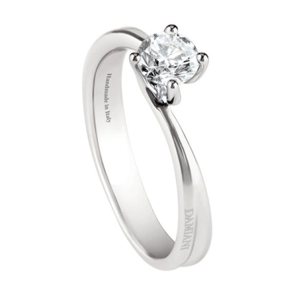 Кольцо Damiani Beauty, белое золото или платина, бриллиант