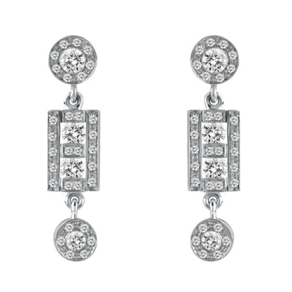 Серьги Damiani Belle Epoque белое золото, бриллианты (20056274)