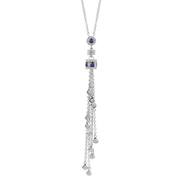 Ожерелье Damiani Belle Epoque белое золото, бриллианты, сапфиры (20056268)