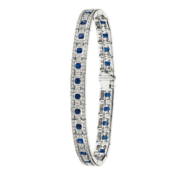Браслет Damiani Belle Epoque белое золото, бриллианты, сапфиры (20000845)